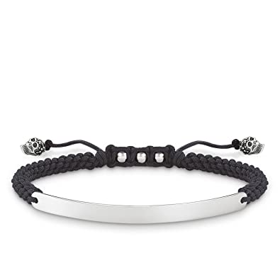 b868b97c03093 Thomas Sabo Unisex-Bracelet Love Bridge 925 Sterling Silver Nylon ...