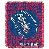 MLB Atlanta Braves 48 x 60-Inch Double Play Jacquard Triple Woven Throw