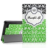 Infiland Fire 7 Shell Case - Ultra Slim Lightweight Tri-fold Stand Cover For Amazon Fire 7 Inch Tablet (Fire 7