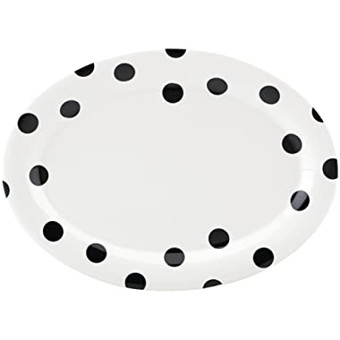 Kate Spade New York 856717 Deco Dot Oval Platter, White