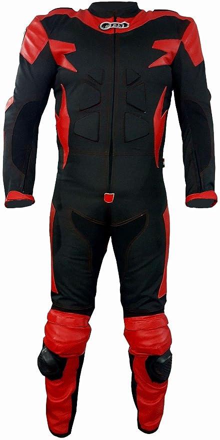 Biesse - Traje de motorista completo de piel y tela, ideal para ...