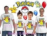 FREE SHIPPING, Pikachu Birthday Shirt, Add ANY name and ANY age, Pokemon Birthday Boy Shirt, FAMILY Birthday Shirt, Pokemon Birthday Shirts, Birthday Boy Pokemon, VISIT OUR SHOP!!