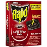 Raid 8 Count Double Control Large Roach Baits