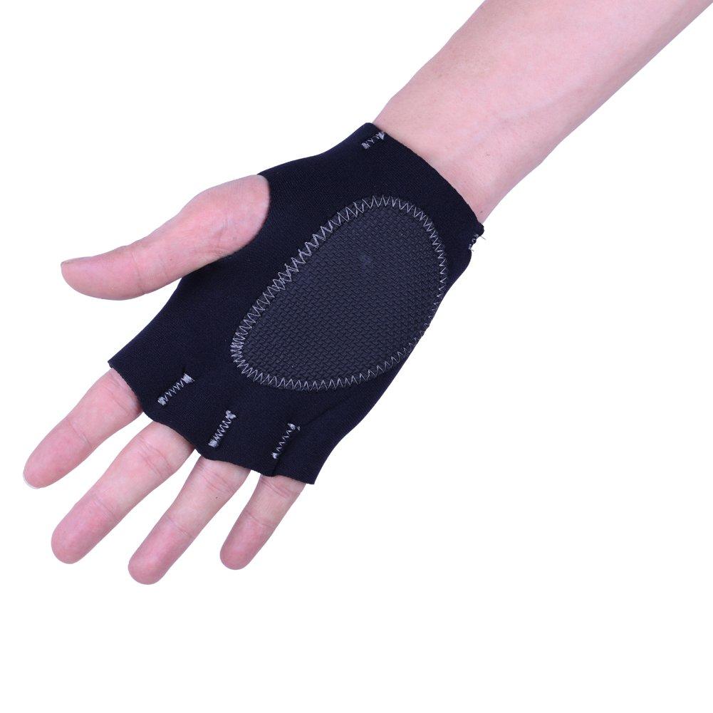 WINMAXジムトレーニング手袋手首ラップグローブウェイトリフティングジムgloves-ブラック B015NUDWT2   XL