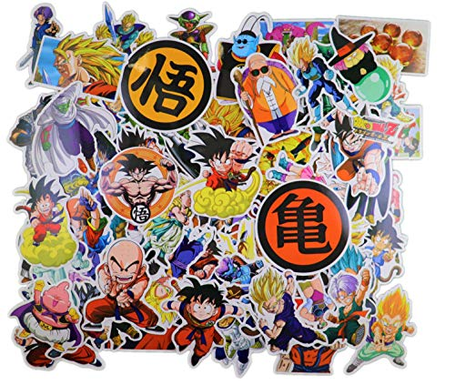Dragon Ball Z Stickers [100pcs] Anime Vinyl Sticker for Nintendo Switch Laptop Water Bottle Bike Car Motorcycle Bumper Luggage Skateboard Graffiti Cute Animal Monsters Decal Best Gift for Kid Childre (Car Decals Dragon Ball Z)