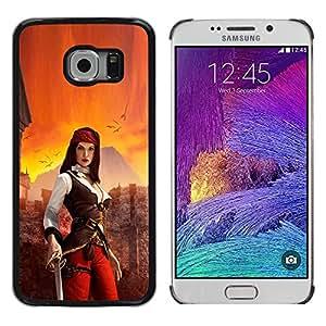 Stuss Case / Funda Carcasa protectora - Woman Pirate - Samsung Galaxy S6 EDGE