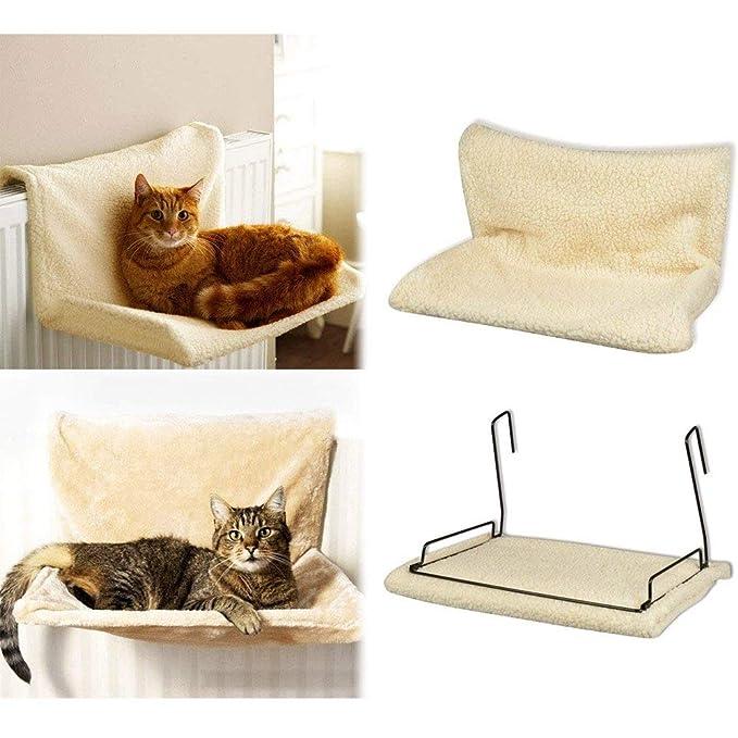 BAKAJI Cuna Hamaca caseta de Radiador para Gatos Relax 46 x 30 x ...