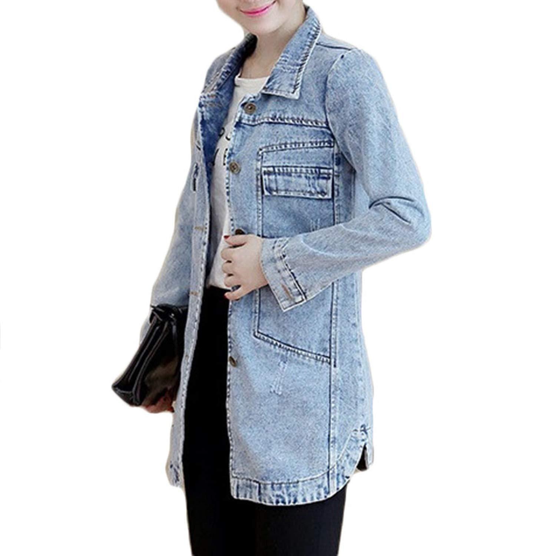 Amazon.com: Aancy Otoño invierno coreano vaquero chaqueta ...