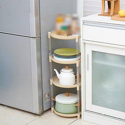 BSNOWF Estante Tipo de piso de plástico Estante de olla Cocina de ...