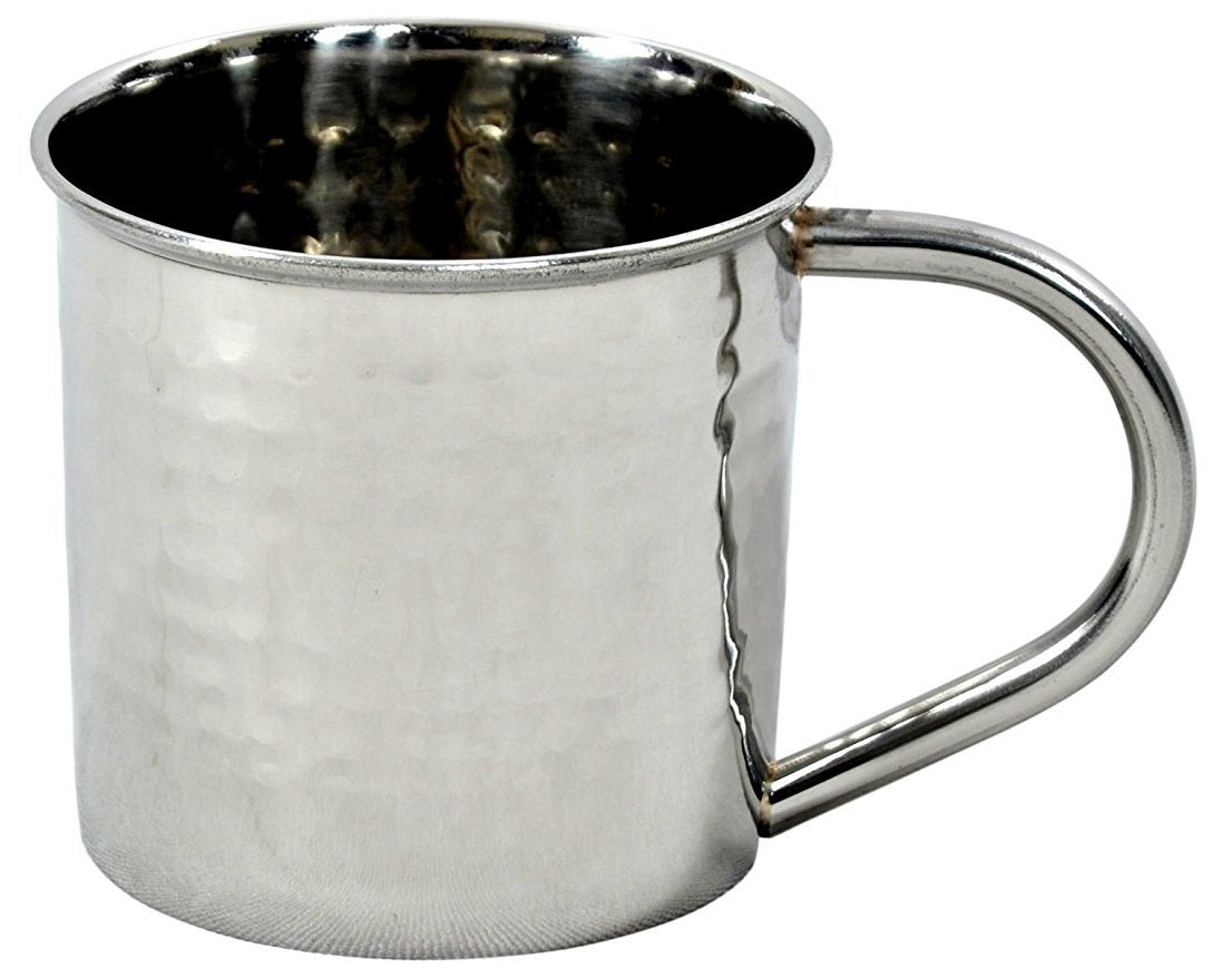 Hammered Stainless Steel Mug for Moscow Mules - 14 oz - by ALCHEMADE