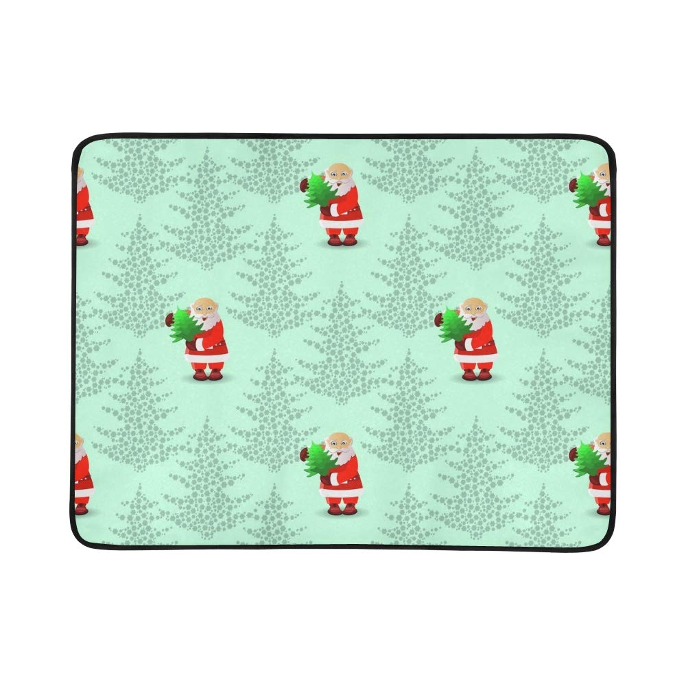EIJODNL New New New Year Santa Claus Portable and Foldable Blanket Mat 60x78 Inch Handy Mat for Camping Picnic Beach Indoor Outdoor Travel B07MYRLXFS Picknickdecken Qualifizierte Herstellung 438d26