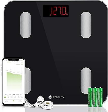 Amazon.com: Etekcity Báscula de grasa corporal con Bluetooth ...