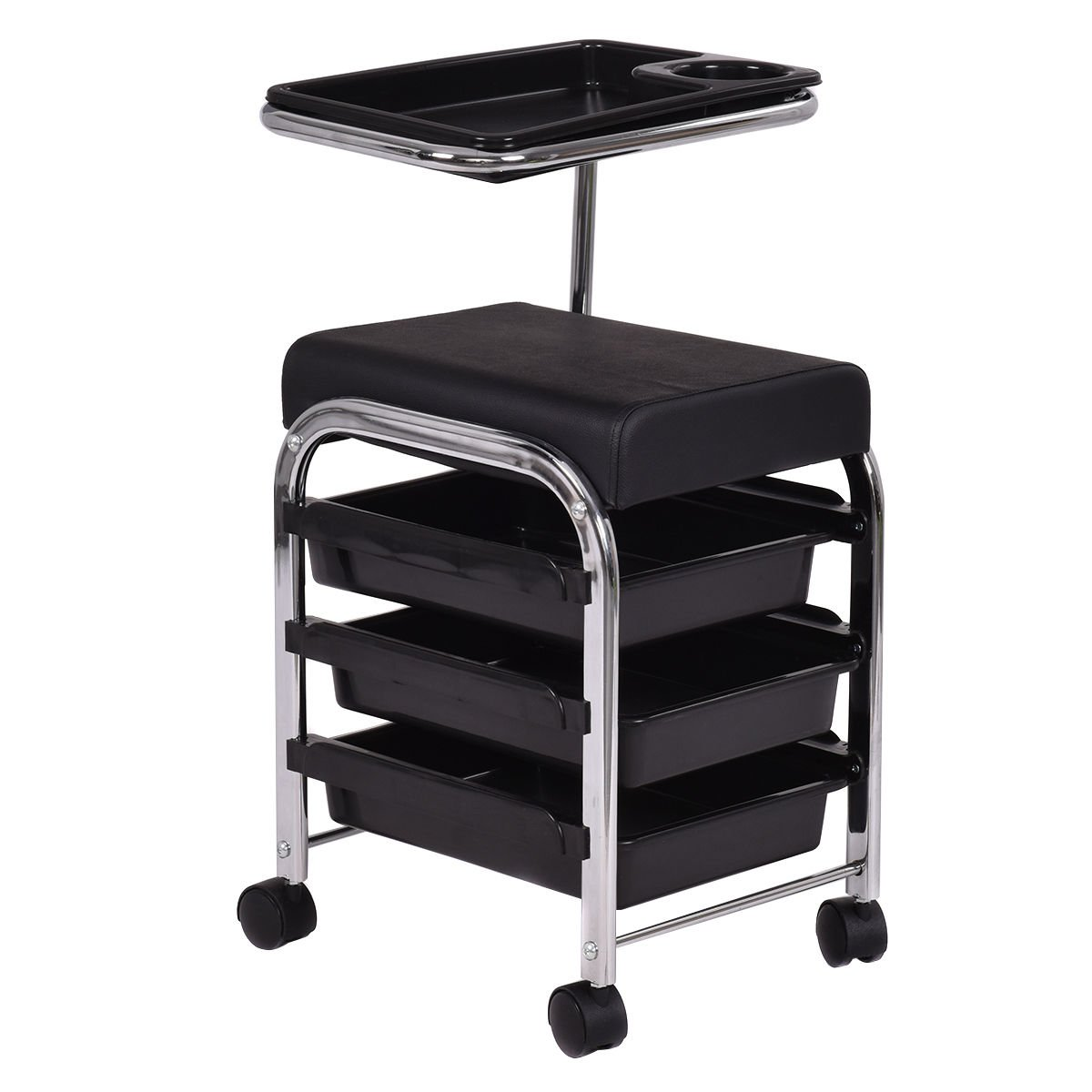 Giantex Black Pedicure Manicure Nail Cart Trolley Stool Chair Salon SPA With Shelves  sc 1 st  Amazon.com & Amazon.com : Salon Nail Pedicure Stool Pedicure Chair DAYTON BLACK ... islam-shia.org