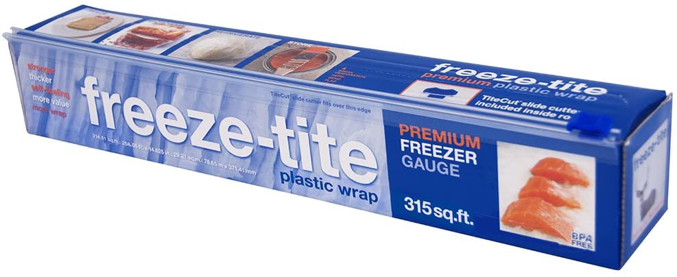 Freeze-tite Plastic Freezer Wrap, 315-Square Feet x 14 5/8-Inch Rolls (Pack of 4)