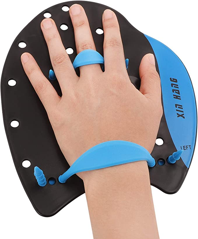 Details about  /1 Pair Swimming Training Hand Paddles Gloves Adjustable Water Gear Sports I5L0