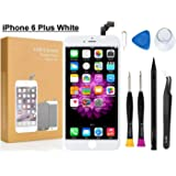 Compatible with iPhone 6 Plus Screen Replacement 5.5 inch (White), COASD LCD Digitizer Touch Screen Assembly Set, Repair Tools and Professional Replacement Manual Includ (6 Plus White)