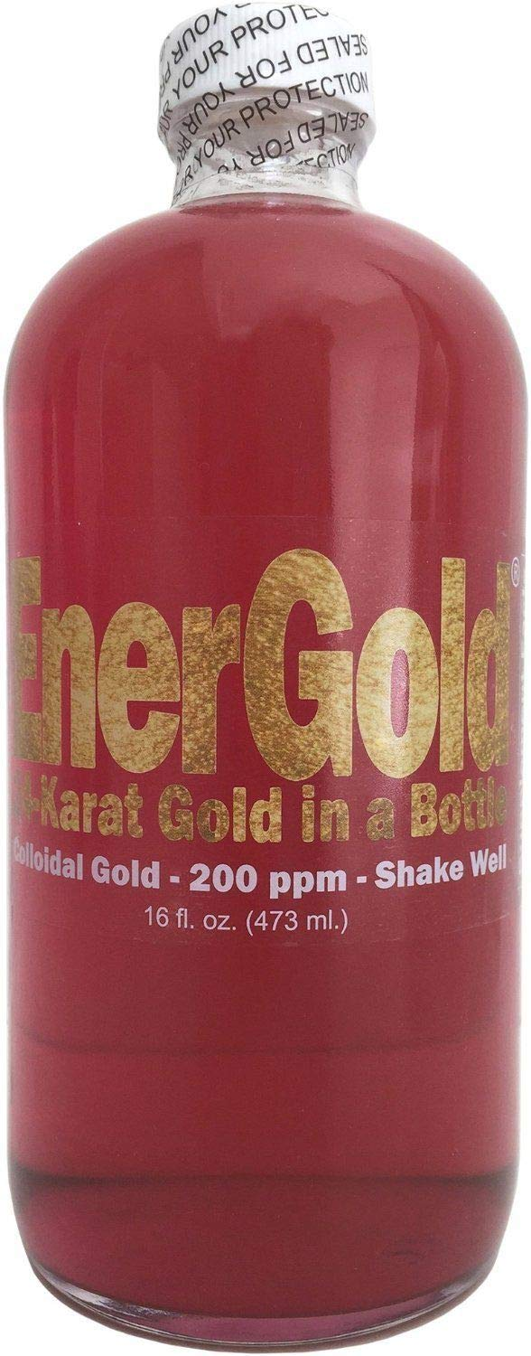 EnerGold® 10-Times-Concentrated 200-ppm Colloidal Gold - 32-Oz. (Two 16-Oz. Bottles) by EnerGold®
