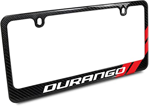 Warranty Dodge Charger RT Classic Red Stripe Black Metal License Plate Frame