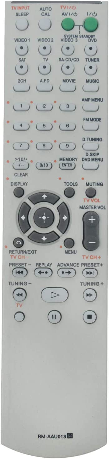 RM-AAU013 Replace Remote Control - AIDITIYMI RMAAU013 Remote Control Replacement for Sony RM AAU013 HT-DDW790 STR-DG510 HT-DDW795 HT-DDW685 Home Theater System