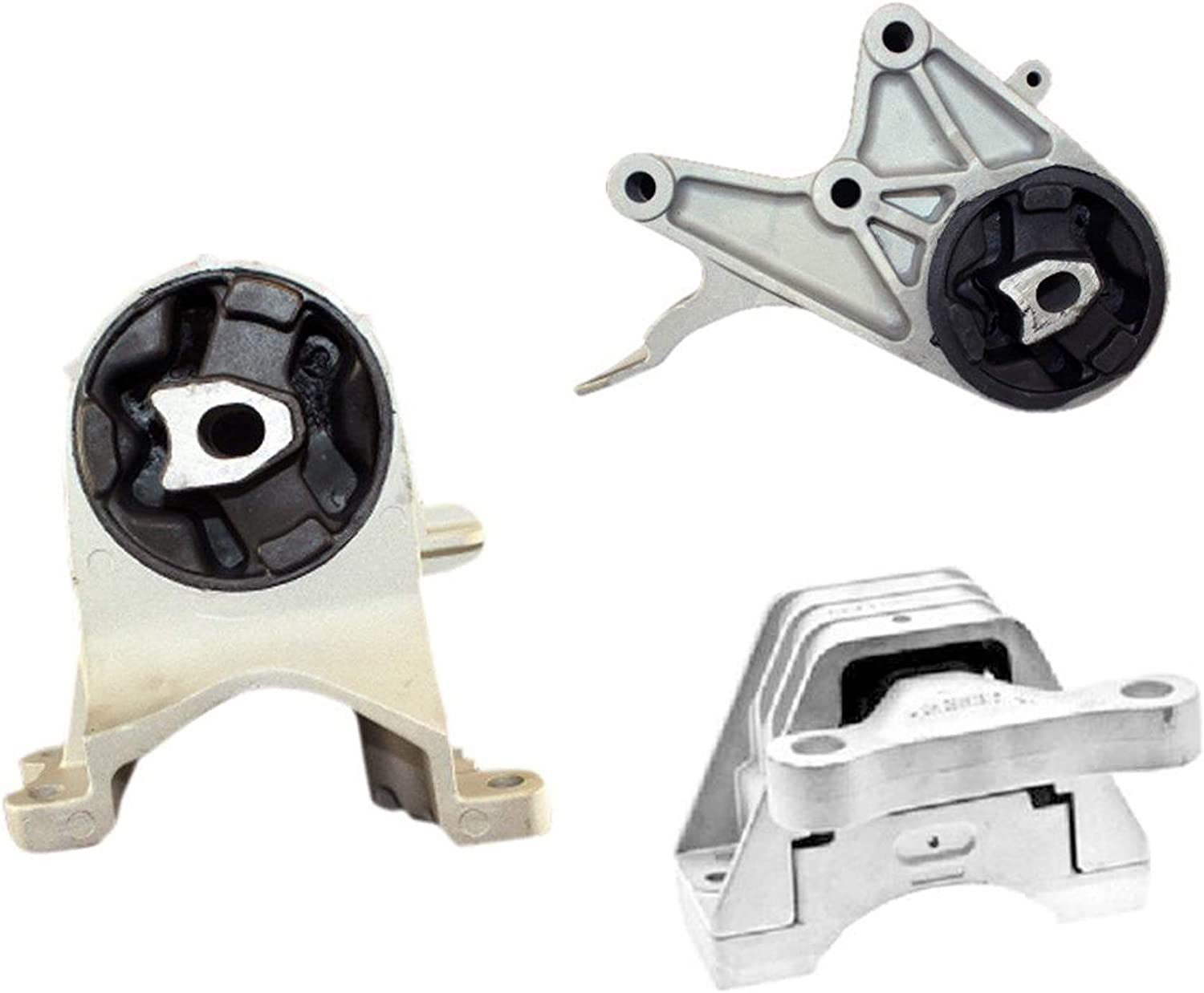3 PCS Motor /& Trans Mount For 2009-2012 Chevrolet Malibu 2.4L 6Spd