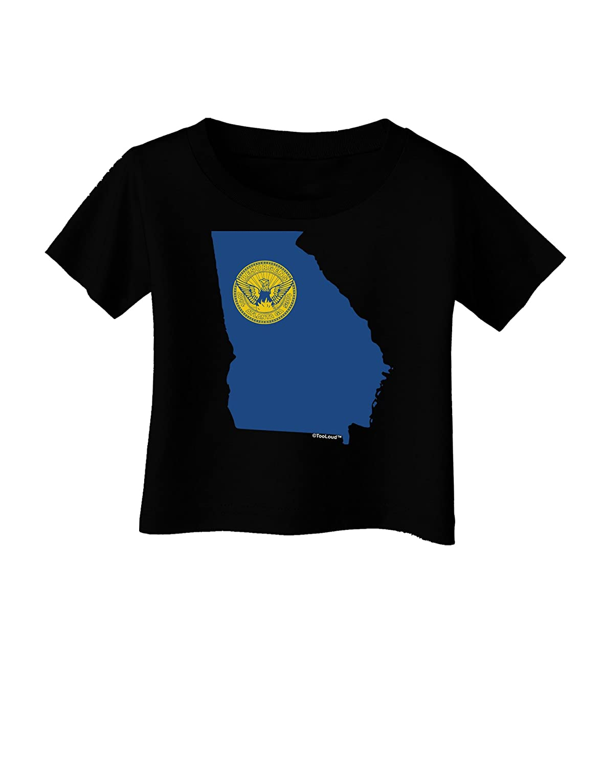 TooLoud Atlanta Georgia Flag Infant T-Shirt Dark