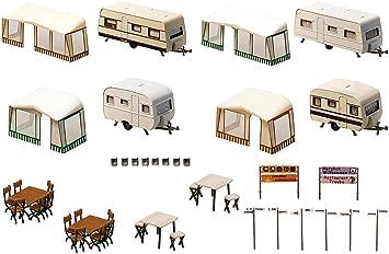Faller F130503 - Juego de miniaturas de caravanas de Camping