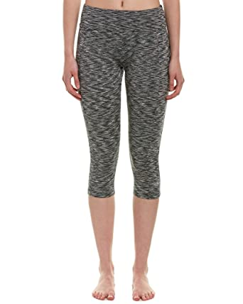 4a5d8981e916a5 Marika Tek Ladies Sanded Dry-WIK Performance Capri Pants (M, Black) Leggings