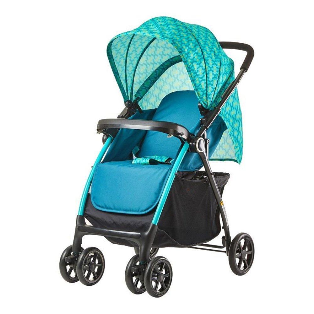 LVZAIXI プッシュチェアハイランドスケープベビーベビーカー/座ったり、折り畳まれた赤ちゃんを寝かせたりすることができます多機能2ウェイ四輪トロリーベビープッシュ ( 色 : 緑 ) B07CG6M128緑
