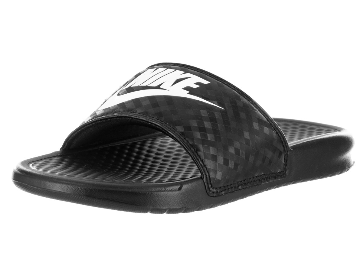 NIKE Womens Benassi JDI Black/White Sandal 8 Women US