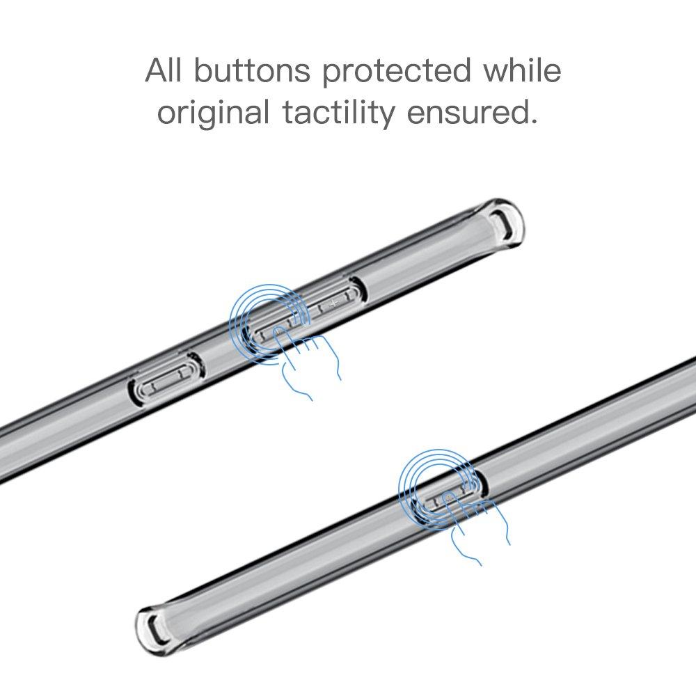 Hülle für Samsung Samsung Galaxy S8,TUCNIPUS Schutzhülle Case Silikon - Ultra Dünn Crystal Clear Durchsichtige Backcover Handyhülle TPU Case für Samsung Galaxy S8-Transparent
