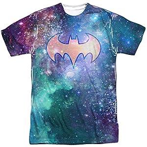 DC Comics Men's Batman Shielded Galaxy Double Sided Adult T-Shirt at Gotham City Store