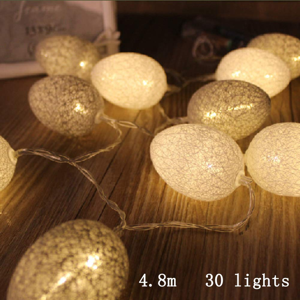 Wongfon Easter Egg Led Lights LED String Lights Home Decorative Lights for Festivals Weddings Celebrations Birthdays Parties Shopping malls Stage
