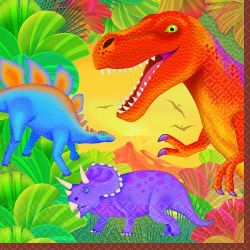 Dinosaur Prehistoric Party Lunch Napkins (16ct) (Dinosaur Napkin)
