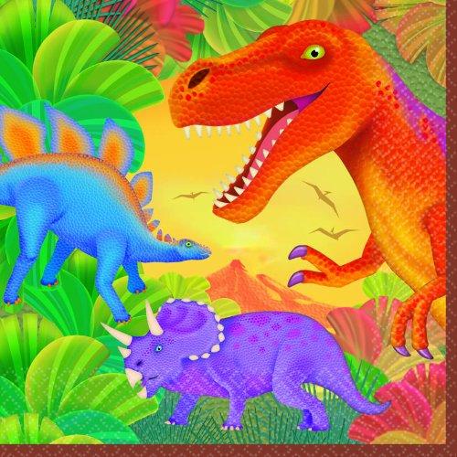 Dinosaur Prehistoric Party Lunch Napkins (16ct) (Napkin Dinosaur)