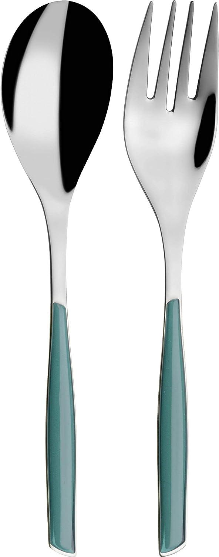 Bugatti Glamour GLCV 021F11–12 / 2–Piece Cutlery Set, SAN / stainless steel / Green / White / 25 x 12 x 3 CM