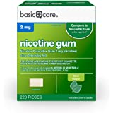 Amazon Basic Care Nicotine Polacrilex Gum 2 mg (nicotine), Mint Flavor, Stop Smoking Aid; quit smoking with nicotine gum…