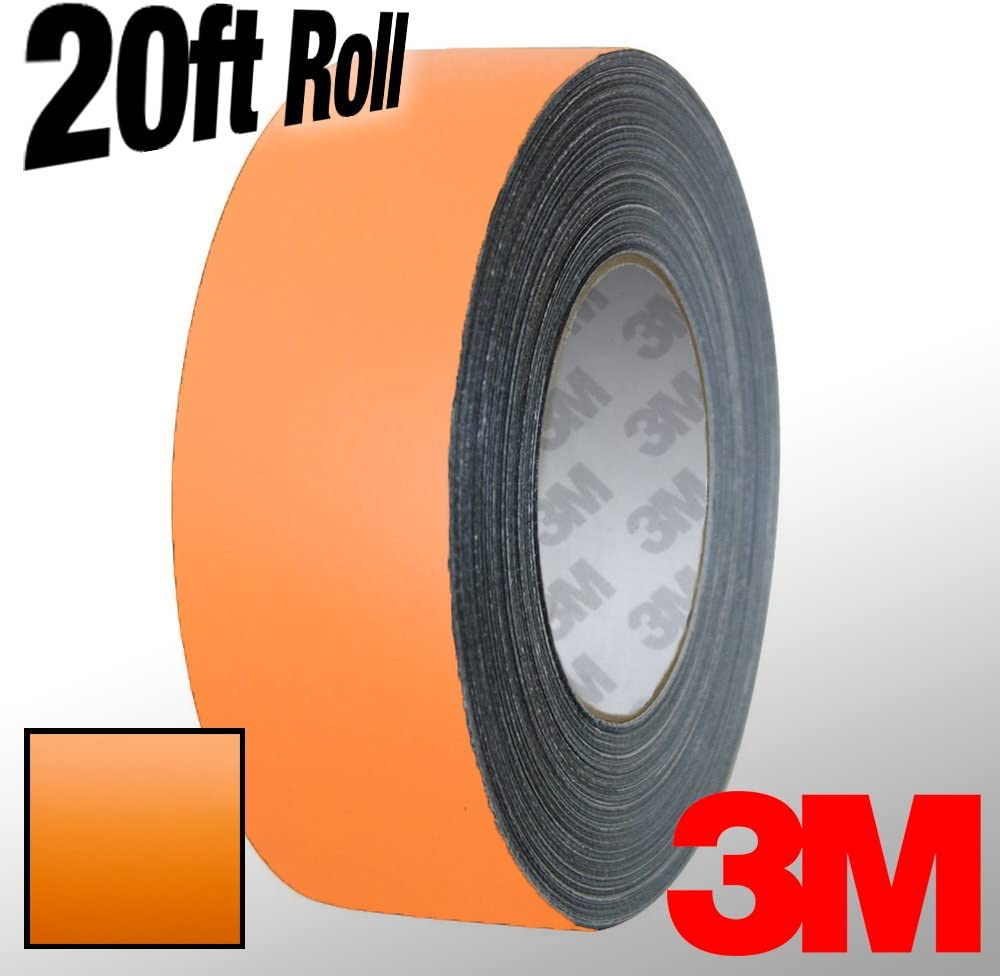 1 Inch x 20ft VViViD 3M 1080 Orange Matte Vinyl Detailing Wrap Pinstriping Tape 20ft Roll