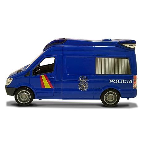 Furgón de 34cm de la Policía Nacional con luz y sonido (Dickie 1156011)