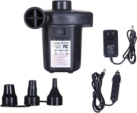 Amazon.com: Bomba de aire eléctrica 110 V CA/12 V CC, 2 vías ...