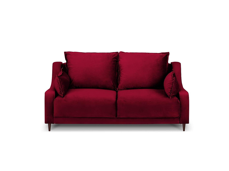Mazzini Sofas Freesia, 2 plazas, Rojo, 150 x 94 x 90: Amazon ...