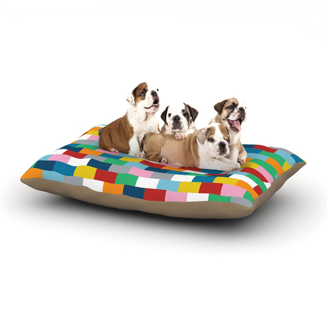 Large 30\ Kess InHouse Project M Bricks  Dog Bed, 30 by 40-Inch