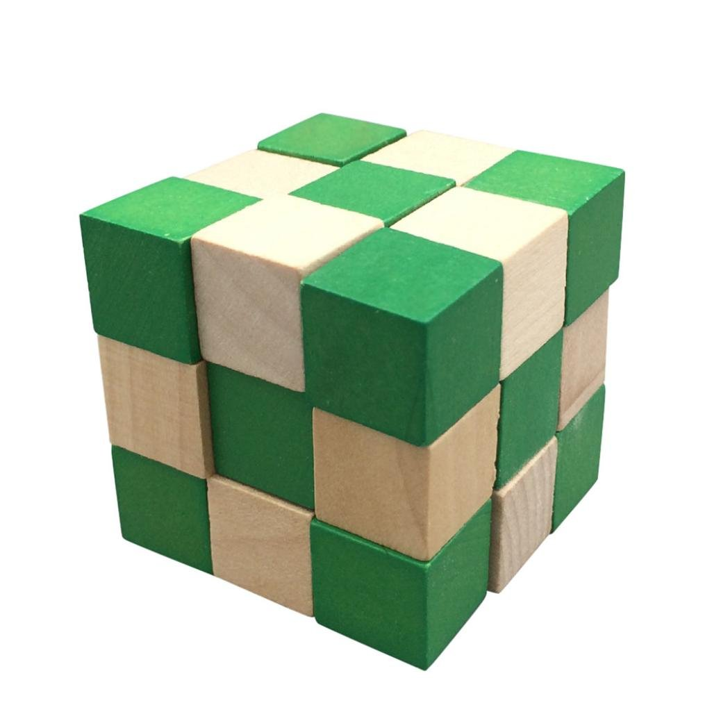 Livoty Classic Magic Toys Puzzle Cube Learning Educational Puzzle Magico Toys (Green)