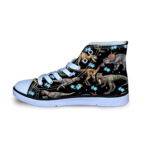 feeae6168ad56 HUGS IDEA Galaxy Star Print Fashion Kids Lace Up Sneaker High-top Canvas  Shoes for Girls Boys