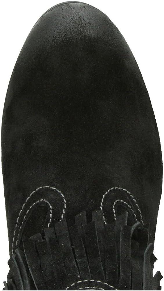 Taos Footwear Womens Shag Suede Fringe Boot,Black Suede,EU 40 M