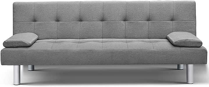 Artiss 3 Seater Adjustable Sofa Bed Sleeper Upholstery Linen Fabric