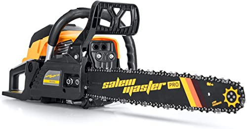 SALEM MASTER 5820G 58CC 2-Cycle Gas Powered Chainsaw, 18-Inch Chainsaw, Handheld Cordless Petrol Gasoline Chain Saw for Farm, Garden and Ranch
