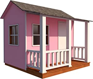 Kids Playhouse Plans DIY Backyard Storage Shed Micro Cottage Small Guest House