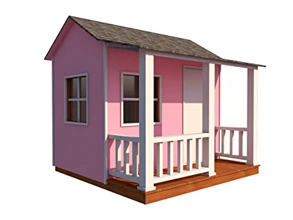Prime Amazon Com Kids Playhouse Plans Diy Backyard Storage Shed Interior Design Ideas Grebswwsoteloinfo