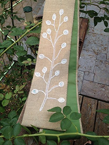 Clergy stole, burlap with tree design! by BySkyeDesigns