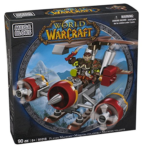 Mega Bloks World of Warcraft Flying Machine and Flint (Alliance Gnome Rogue)